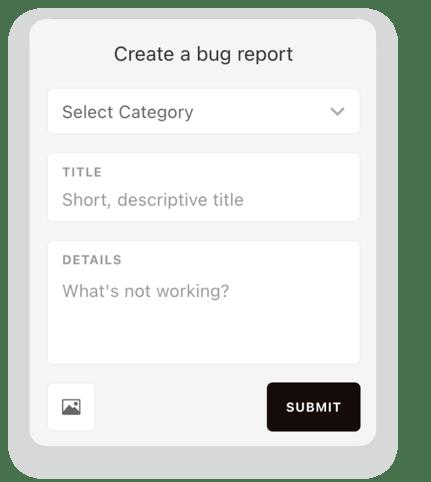 Create bug report - Canny