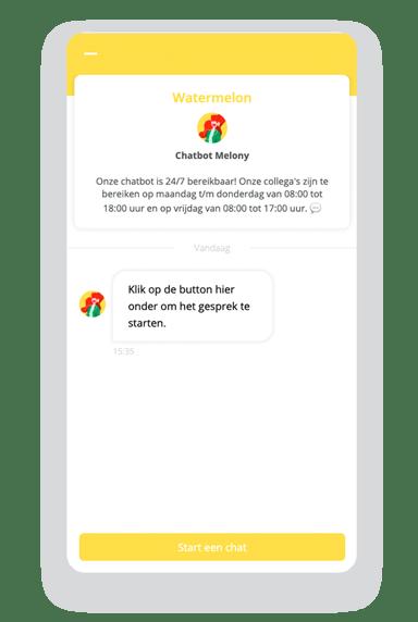 Website widget voorbeeld